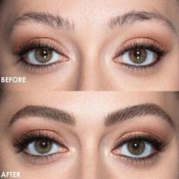 Eyebrow Stamp Pen Kit One Step 1 SET Mörkbrun