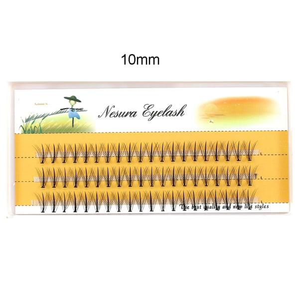 60 buntar / Box Cluster Ögonfransförlängning Individuella ögonfransar 10mm