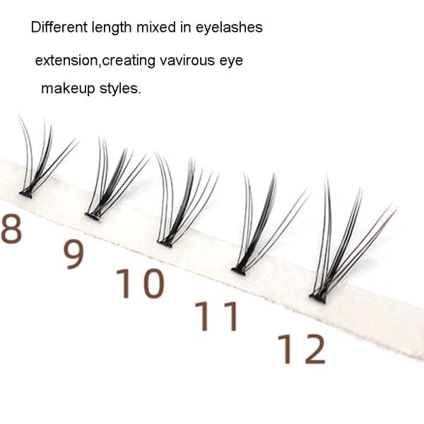 60 buntar / Box Cluster Ögonfransförlängning Individuella ögonfransar 11mm