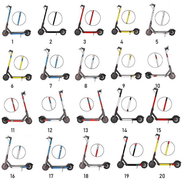 1 Set Reflekterande Styling-klistermärken Reflekterar Light Tags Skateboard