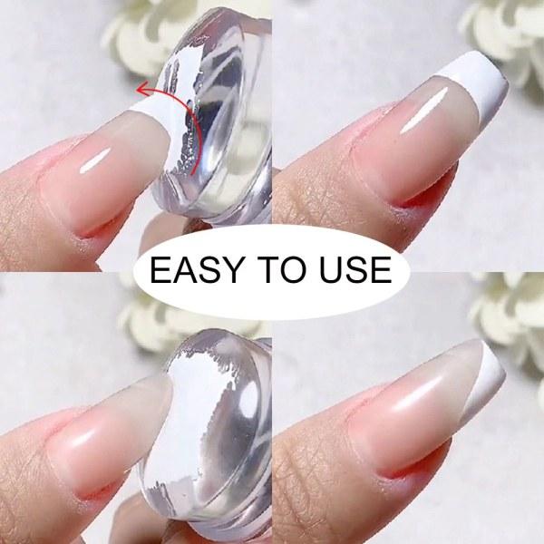 Nail Stamper Scraper Set Clear Jelly WHITE