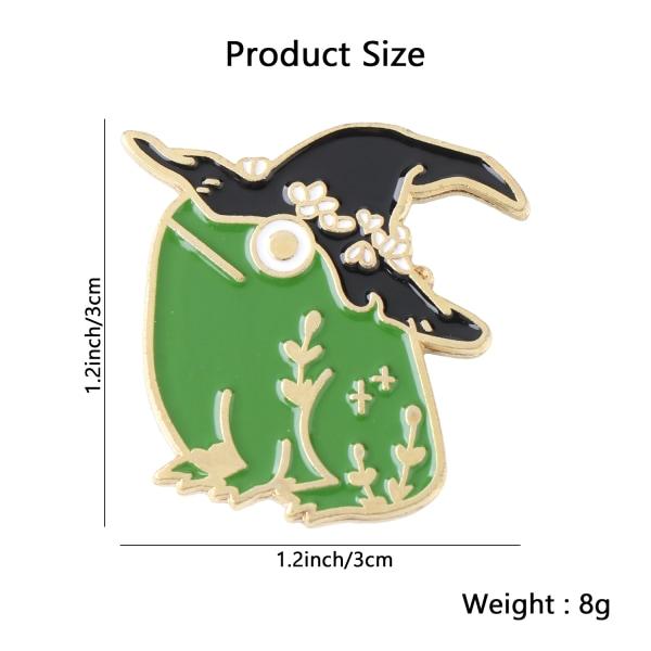 Frog Shape Paint Brooch Frog Wizard Hat Shape XZ3227 XZ3227