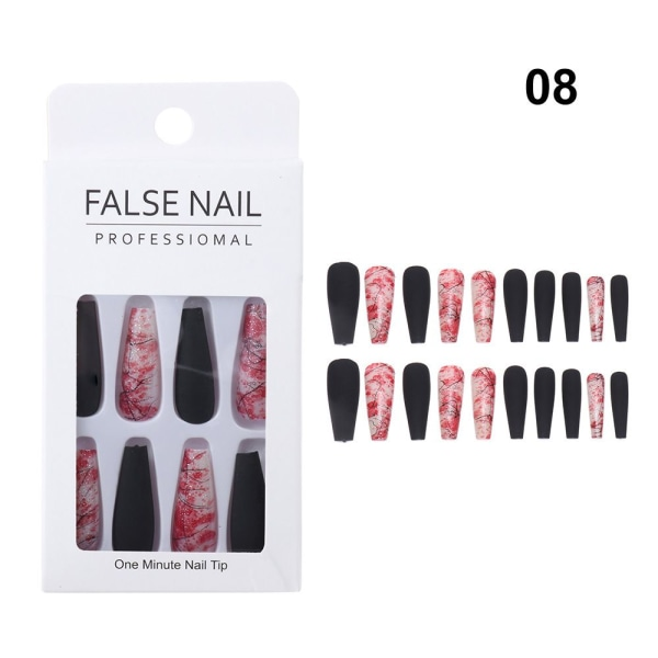 Falska naglar Coffin Nail Tip 8