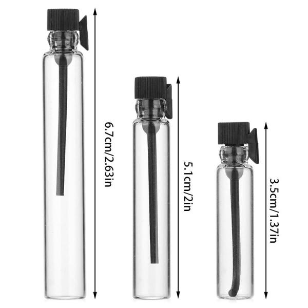 10st Separat tappning Töm flaska SVART 1ML 1ML