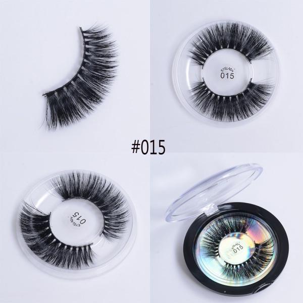 Falska ögonfransar Ögonfransar Förlängning Mjukt Silk Protein STYLE 015