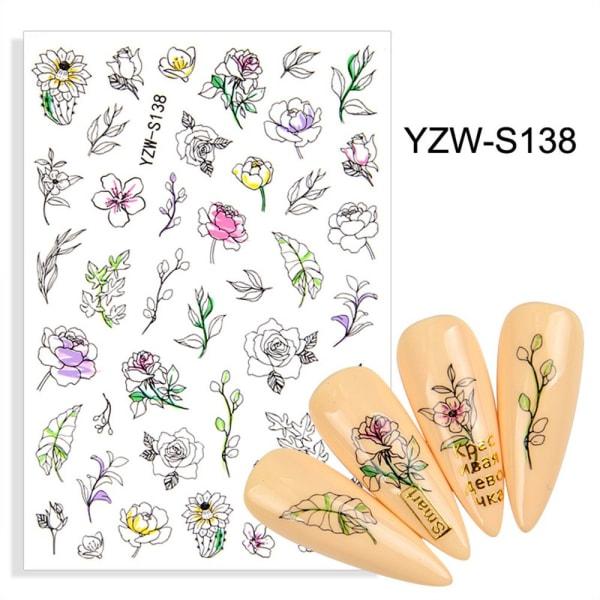 Nail Sticker Dekaler Stickers YZW-S138 YZW-S138 YZW-S138