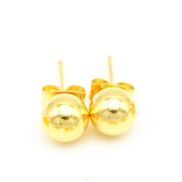 Guld kula örhängen i kirurgiskt stål. Finns olika storlekar 4mm