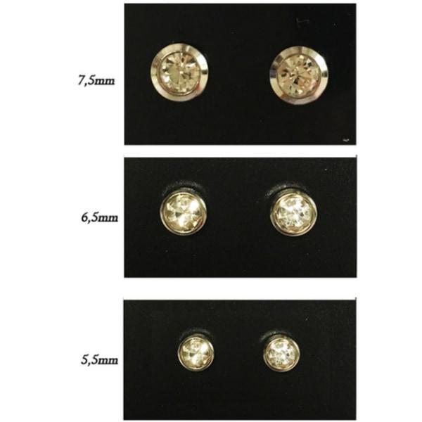 Magnet örhängen med stenar 6,5mm
