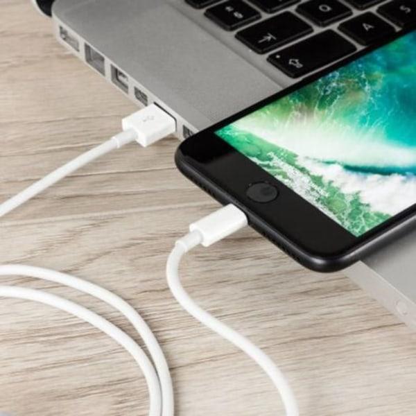 5-pack Lightning laddare iPhone 13/12/11/ Xs/Max/X/8/7/6/5SE Vit