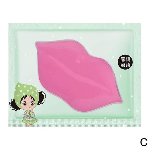 1*Pink Collagen Care Moisturizing Lip Crystal Lip Mask Hydrating C green