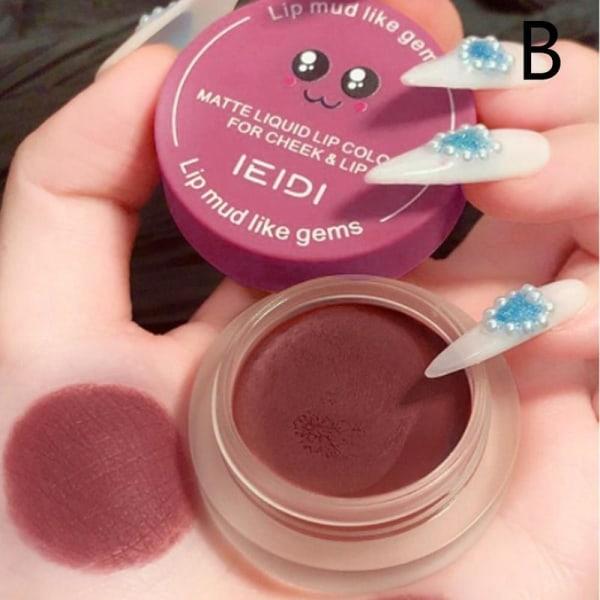 1* sammet läppstift läppglans bestående kvinnor läpp smink kosmetika B Rose soot