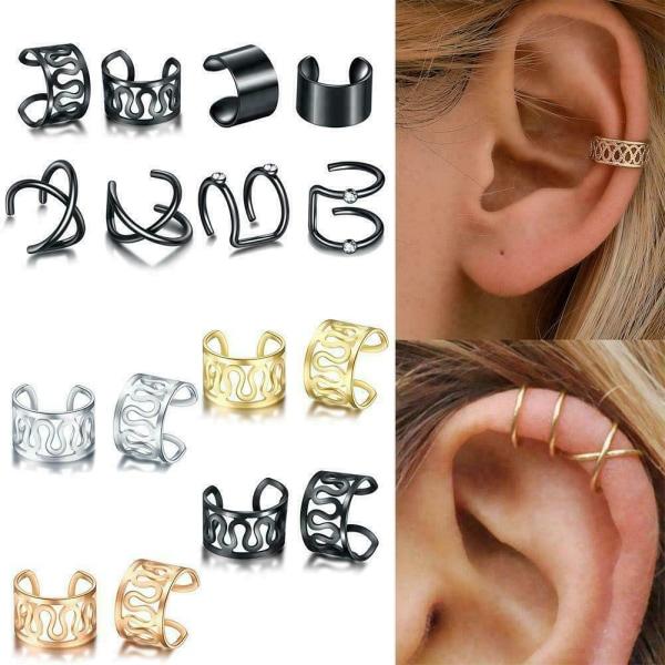 1st Multistyle Ear Cuff Earring för kvinnor smycken Ingen piercing