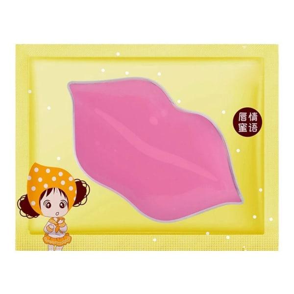 1*Pink Collagen Care Moisturizing Lip Crystal Lip Mask Hydrating B blue