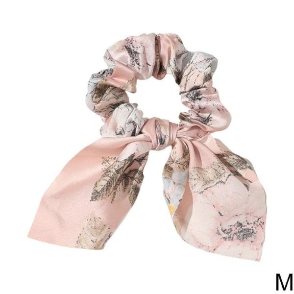 Chiffon Bowknot Elastiskt hårband Enfärgat Scrunchies pannband