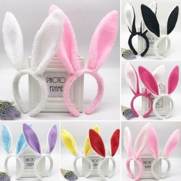 Påsk vuxna barn hårband kanin örat pannband mjuk