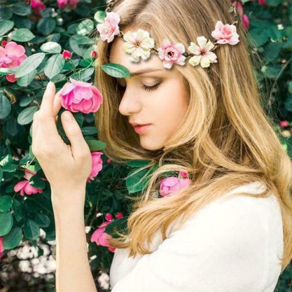 Flower Headband Garland Hair Band Crown Wreath Hair Accessories