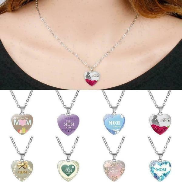 Mothers Day Heart Necklace Metallpläterad kärlek nyckelbenkedja