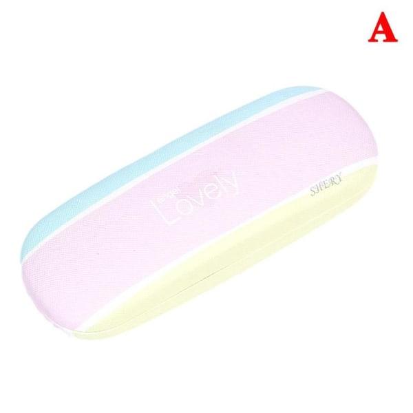 Bärbar PU-hårda glasögon Glasögonfodral Spegelhållare