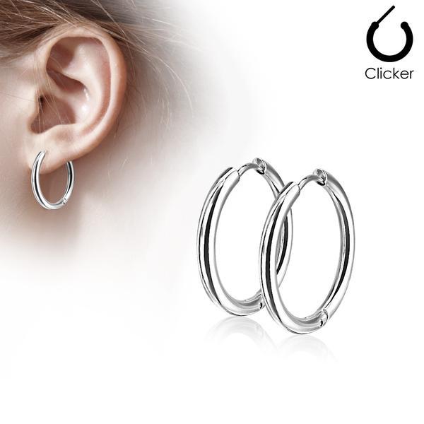 1 Par 25 mm Hoops örhängen i  316L kirurgiskt stål