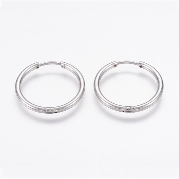 1Par 12 mm Hoops örhängen i IP Pläterad 316L kirurgiskt stål