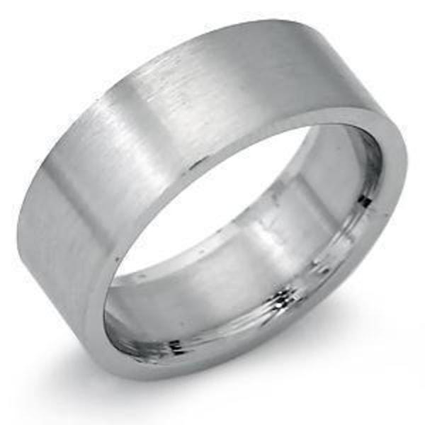 6 mm. bred slät ring i 316L stål (17-20mm.) 19 mm.