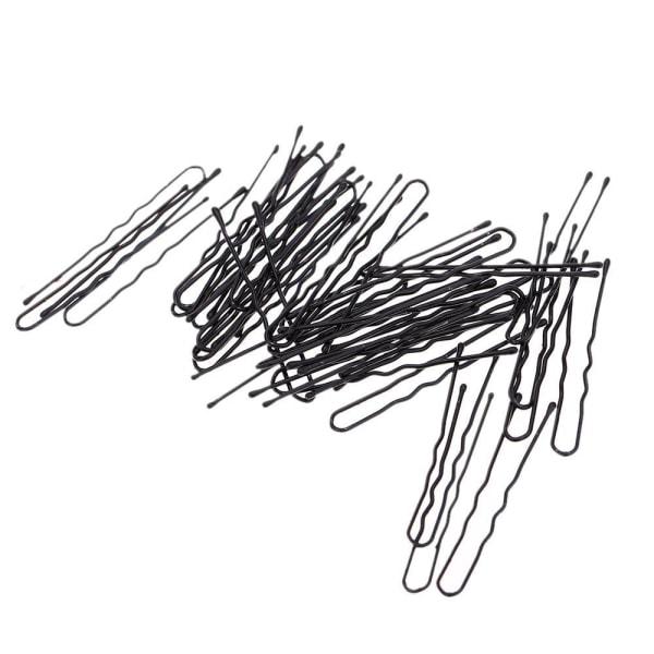 Pack med 50 Svarta hårnålar 60 mm. långa