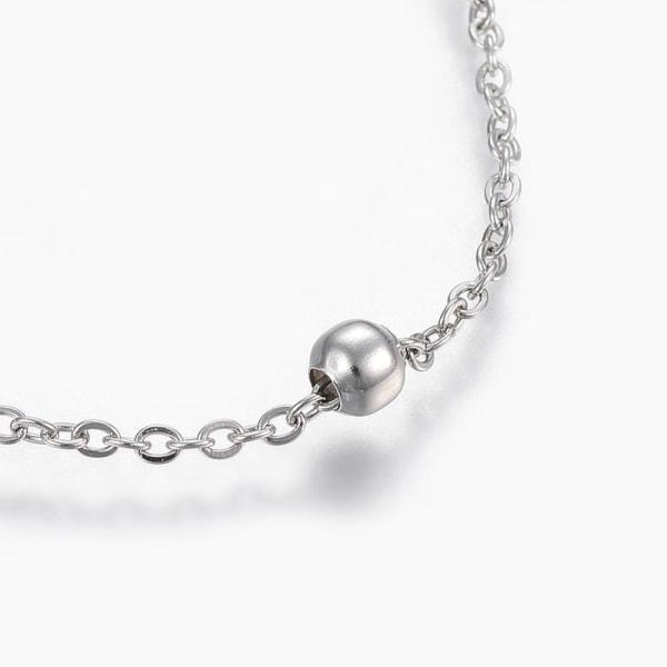 Vristlänk i AISI 304 stål med cable chain och kulor