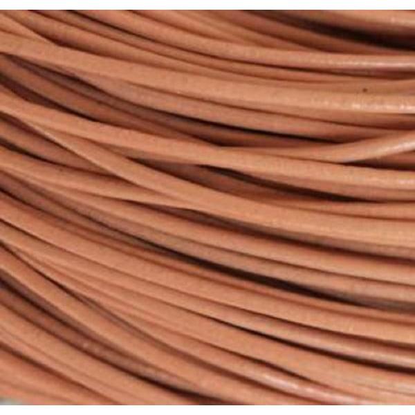 *10 meter  naturfärgad läderrem  3 mm. tjock