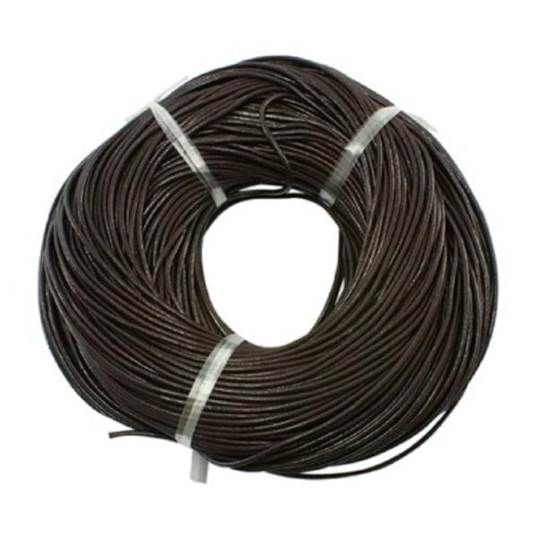10 mt. kokosnöt brun läderrem 3 mm. tjock ,