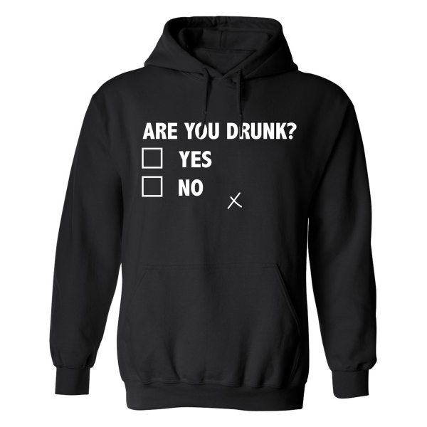 Are You Drunk - Hoodie / Tröja - DAM Svart - 2XL