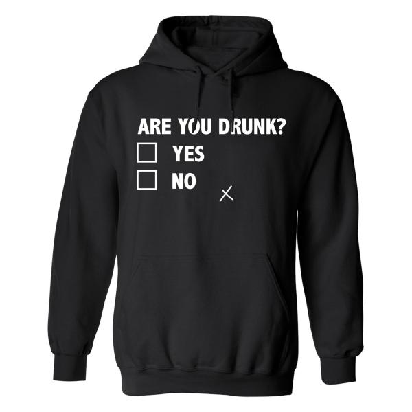 Are You Drunk - Hoodie / Tröja - DAM Svart - M