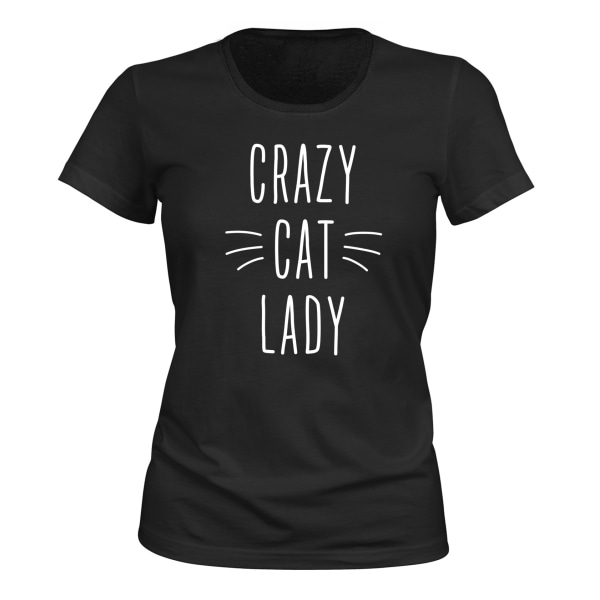 Crazy Cat Lady - T-SHIRT - DAM svart S