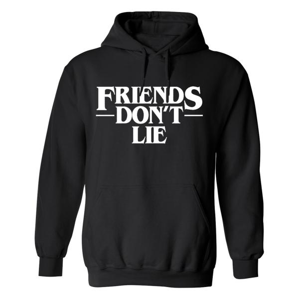 Friends Dont Lie - Hoodie / Tröja - DAM Svart - 2XL