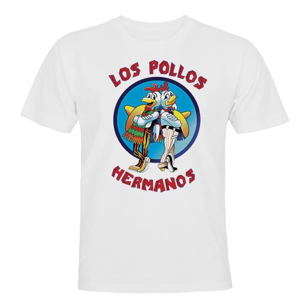 Los Pollos Hermanos - T-SHIRT - HERR Vit - 5XL