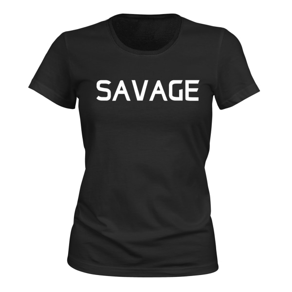 Savage - T-SHIRT - DAM svart M