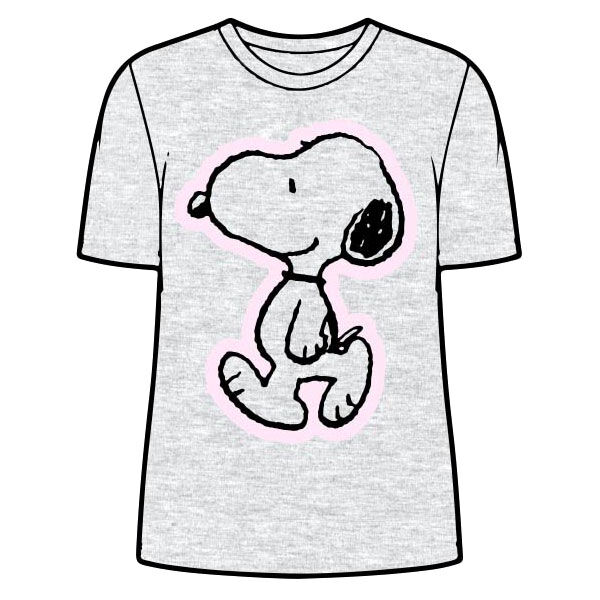 Snoopy Grey woman adult t-shirt M