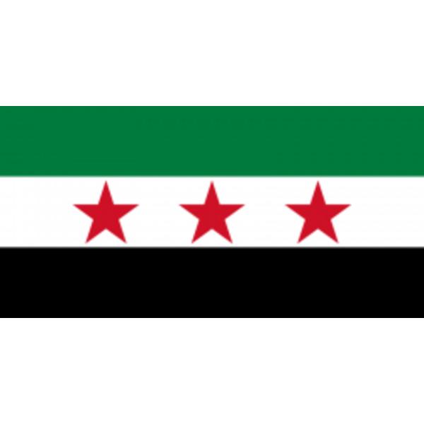 Flagga - Syrien (gamla) -Syriska nationella koalitionen använder