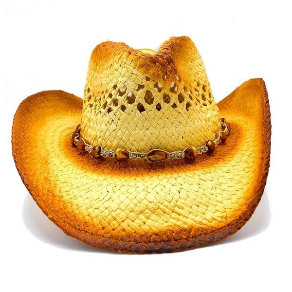 Cowboyhatt med pärlor - handgjord hatt