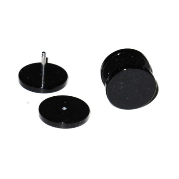 Fake Plugg - Svart 10 mm/ett par Svart