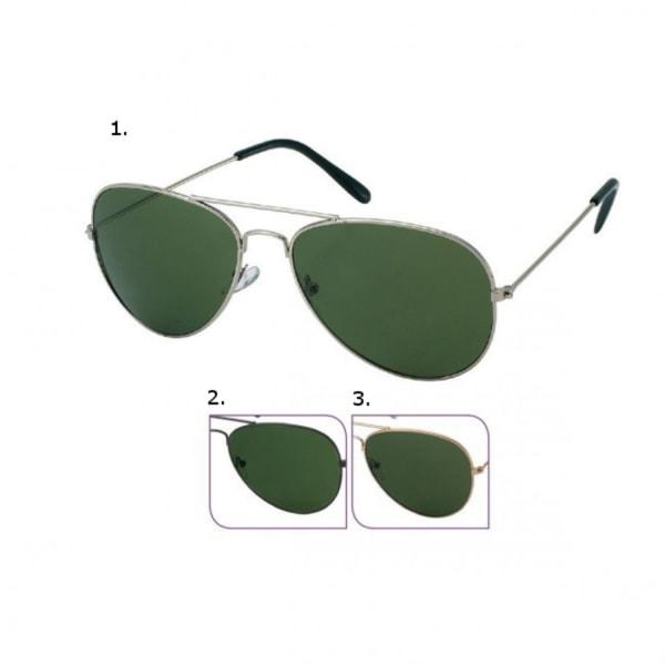 Pilot solglasögon  Guldfärgade bågar med mörka linser