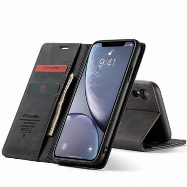 iPhone XR Elegant Flipfodral CaseMe® 3-FACK Svart