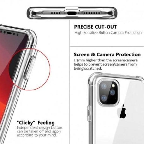 360° Heltäckande Silikonfodral iPhone 12 Pro Transparent