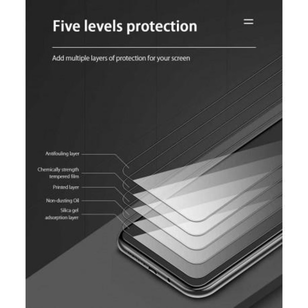 Google Pixel 4a 4G/LTE FullFrame® 0.26mm 2.5D 9H Härdat Glas Transparent