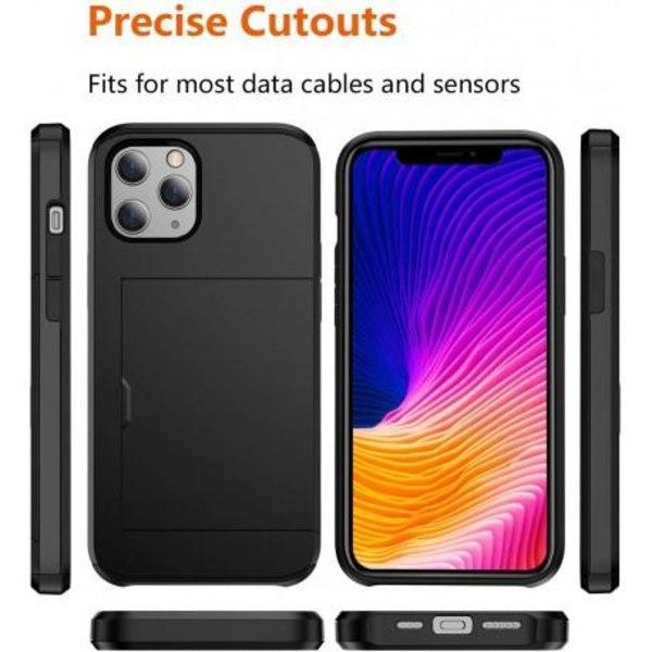 iPhone 12 Mini Stöttåligt Skal med Kortfack Svart