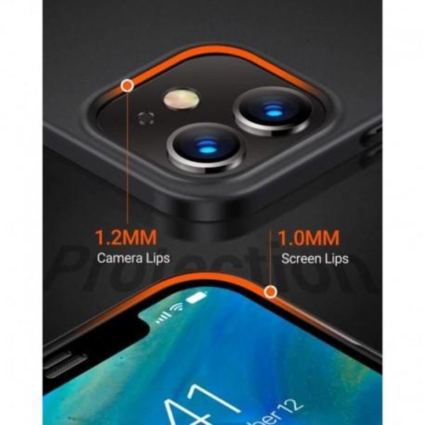 iPhone 13 Ultratunn Gummibelagd Mattsvart Skal Basic® V2 Svart