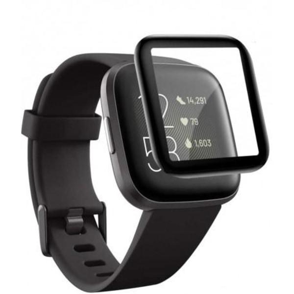 Fitbit Versa 3 FullFrame® 3D Härdat Glas 0.2mm 9H Transparent