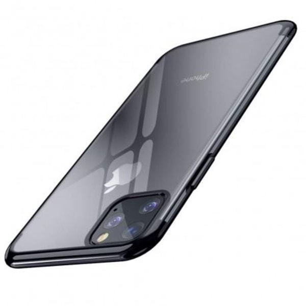 iPhone 11 Pro Max Stötdämpande Gummiskal V2 Svart