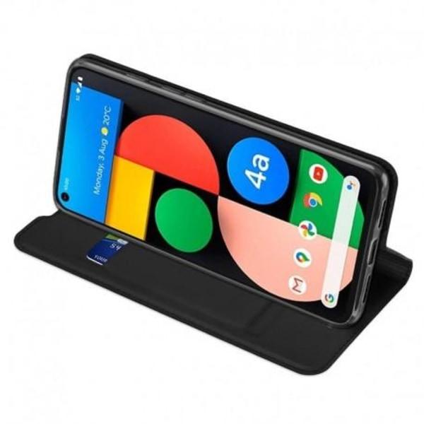 Google Pixel 4a 4G/LTE Flipfodral Smooth® Kortfack Svart