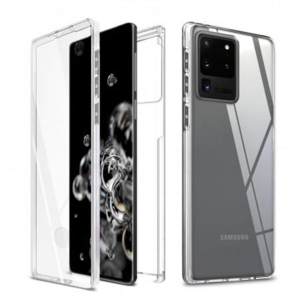 360° Heltäckande Silikonfodral Samsung S20 Ultra Transparent