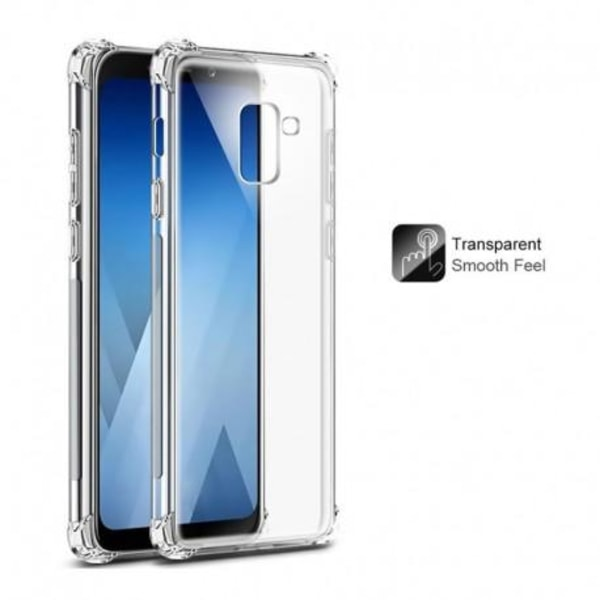 Samsung A6 2018 Stötdämpande Silikon Skal Shockr® Transparent